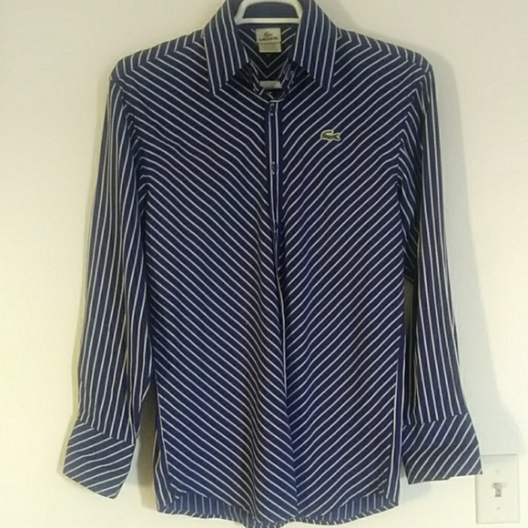 Lacoste Tops - Lacoste Striped Button Down